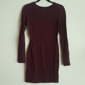 Fitted Forever 21 Burgandy Dress